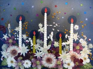 秋の押し花展2